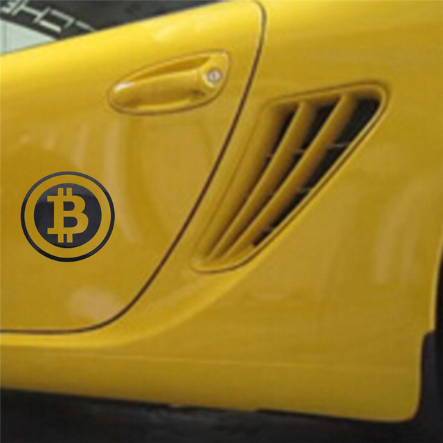 Large Bitcoin Car Sticker Cryptocurrency Blockchain Freedom Sticker Vinyl Car Window Decal 1