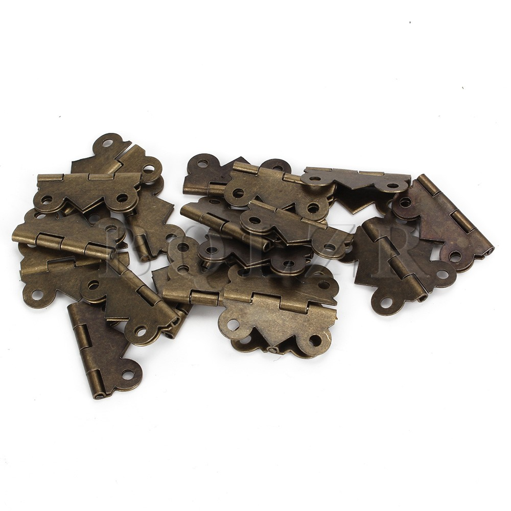 BQLZR 20pcs Bronze Mini Butterfly Hinges Vintage M Size Jewelry Box DIY Repair