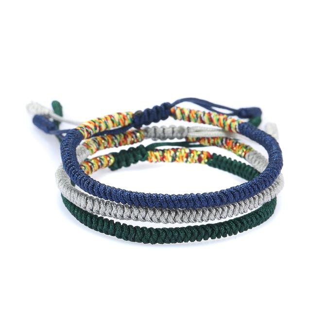 4f8ec8da83034 Handmade Multi Color Red Rope Bracelet Tibetan Buddhist Lucky Knots  Adjustable Bracelet Jewelry For Women Men