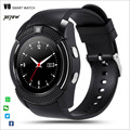 2016 new Sport Full Screen Smart Watch V8 For Android Match Smartphone Support TF&SIM Card Bluetooth Smartwatch Better Than DZ09