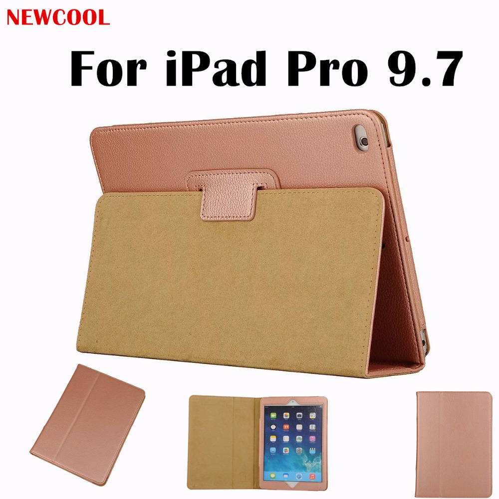 NEWCOOL For Ipad Mini Pro 9.7 Litchi Grain Flip Cover PU Leather Case For Apple iPad Pro 9.7 inch Tablet Case Protective shell protective pu pc flip open case cover for ipad mini red