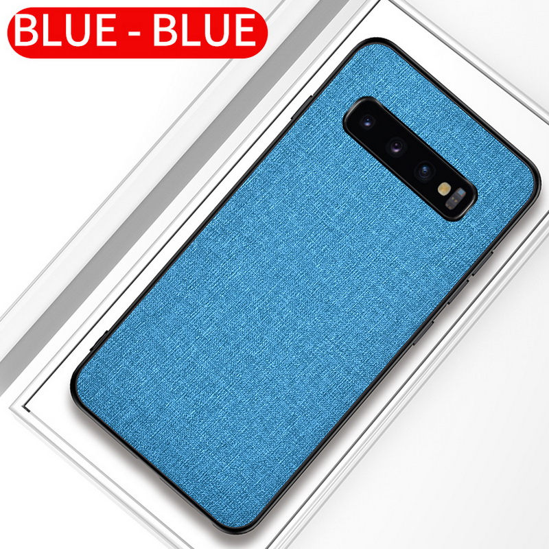 Luxury Slim Soft Fabric Cloth Back Skin Cover Coque For Samsung Galaxy S10 17