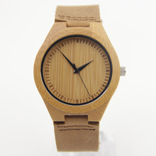 Mens Bamboo Wood Watch Fashion And Casual Gifts With Genuine