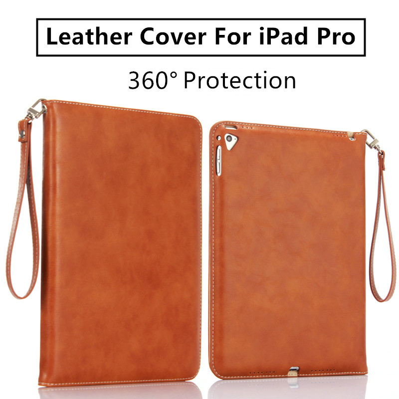 Case  for iPad Pro 9.7 Leather Case for iPad 2 3 4 Original Air 1 Smart Cover Stand Wake&Sleep With Lanyard Luxury Brand for apple ipad air 2 pu leather case luxury silk pattern stand smart cover