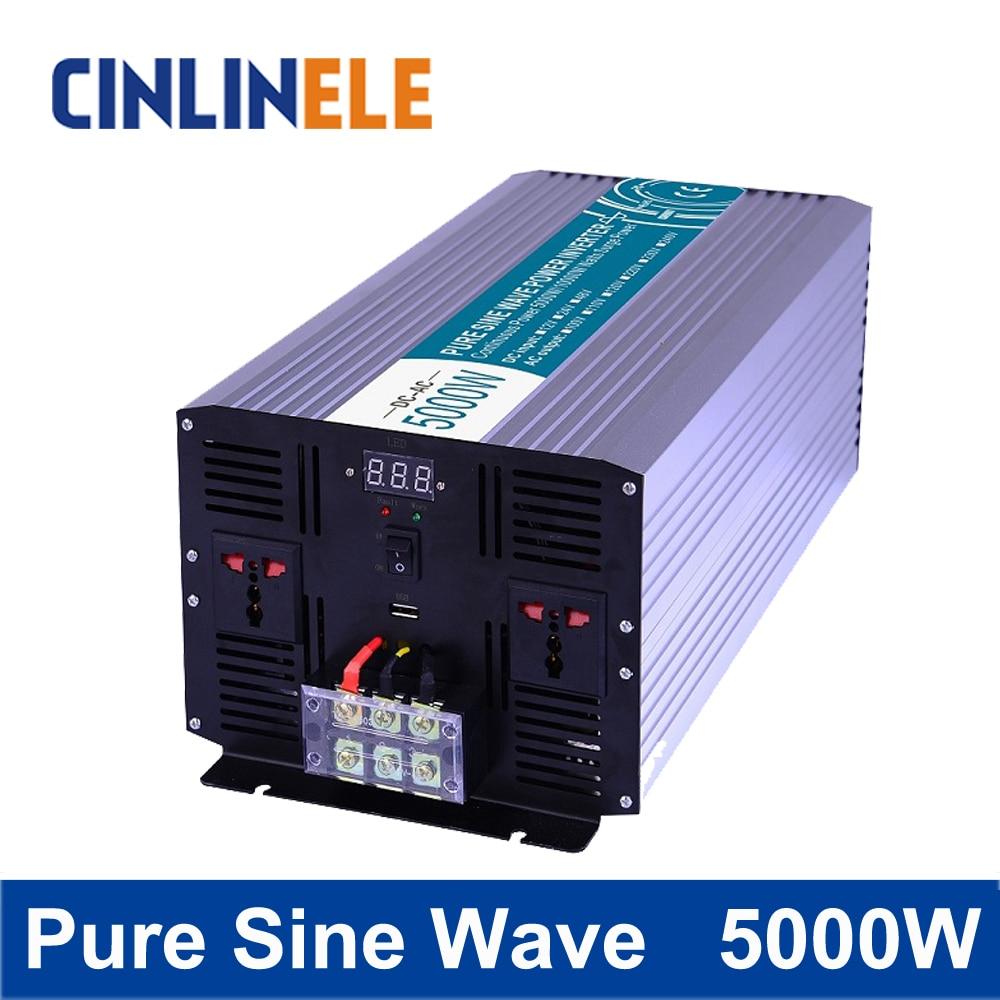Pure Sine Wave Inverter 5000W CLP5000 DC 12V 24V 48V to AC 110V 220V Smart Series Solar Power Off grid 5000W Surge Power 10000W