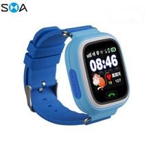 1,22 дюймов цветной сенсорный экран smart watch WI-FI gps позиционирования клавиша SOS анти-потерянный дети называют часы студентов узнать электронный