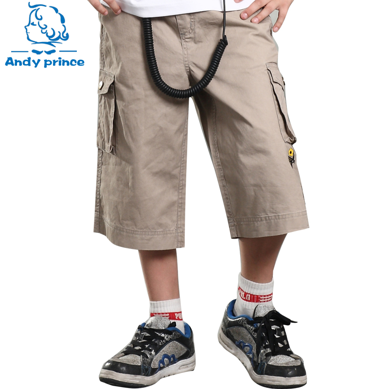 Free Shipping Summer 2018 Boys Pant Boy Capris 100% Child Cotton Kid Toddler Boy Capris Beach Pants Children's Clothing Trousers