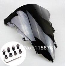 Novo preto motocicleta pára-brisa para yamaha yzf1000 r1 2009-2014