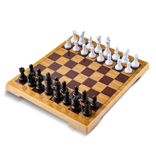 Top Quality Portable Magnetic Plastic Chess Set Small/Large Chessboard For Friends Children's&Kid Entertainment Gift Board Games high quality chess magnetic mini portable plastic chess set board games for friends children s