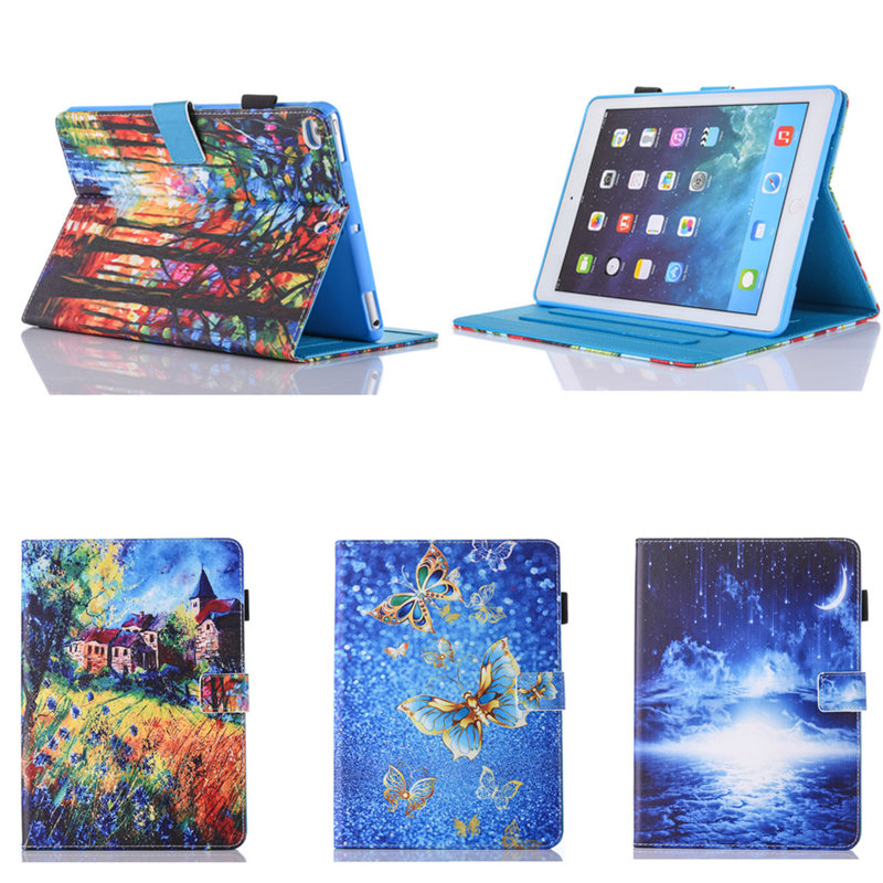 A1822 A1823 Model Fashion Art Prints Tablet Case for New iPad 9.7 inch 2017 Release Flip Folio PU Leather Stand Cases Cover