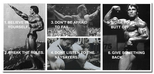 NICOLESHENTING Arnold Schwarzenegger Bodybuilding Motivational Quotes  Poster Art Silk 13x27 24x50inch Fitness Pictures For Decor