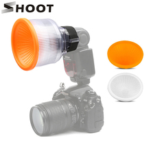 SHOOT Universal Lambancy Dome Flash Diffuser for Canon 430EX 550EX 600EX Nikon SB600 SB700 Sony A6000 White Orange Cloud Covers рассеиватель dicom for canon 600ex