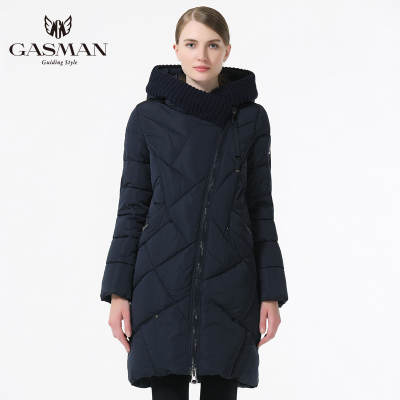Image 5 - GASMAN 2019 New Winter Collection Brand Fashion Thick Women Winter Bio Down Jackets Hooded Women Parkas Coats Plus Size 5XL 6XL-in Parkas from Women's Clothing