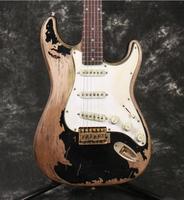 Profissional Artesanal Relic 1961 FD ST guitarra elétrica de um pedaço do corpo de mogno hardware aged nitrolacquer acabamento
