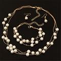 Ahmed Jewelry 3Pcs/Set Fashion Imitation Pearl Jewelry Set Collar Necklaces Statement Choker Necklace & Pendant Woman New A-H162