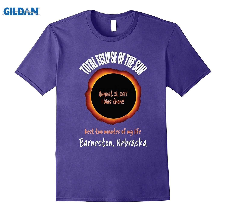 GILDAN Barneston, Nebraska 2017 Eclipse Souvenir T Shirt New 2018 Mens Hot Fashion Short-Sleeved Rider T-Shirts