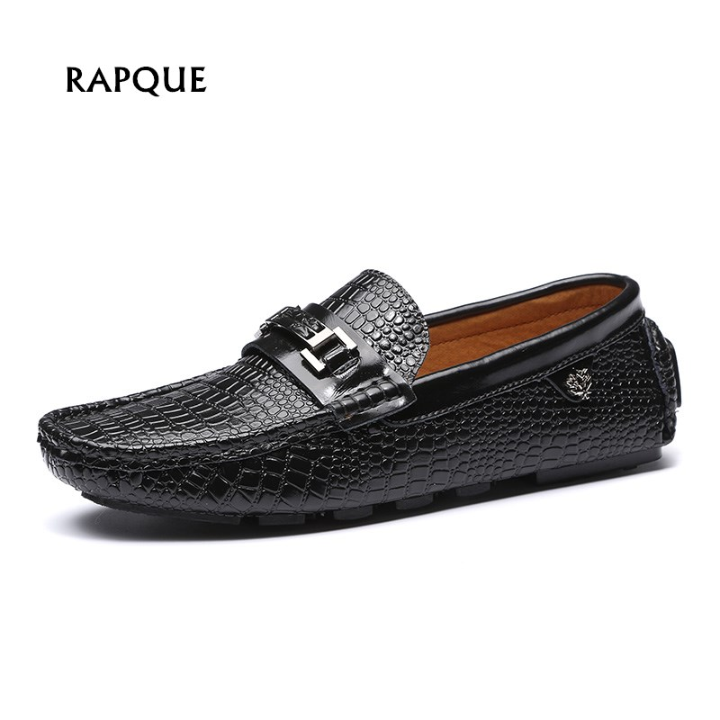 Driving shoes mens loafers shoes crocodile genuine cow leather high quality men flats gommino slip on moccasins push size 36-47 new fashion tassel fringe dandelion spikes mens loafers high quality slip on flats shoes mens casual shoes size 38 47