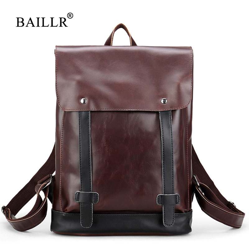 BAILLR Brand Multifunction Male Mochila Leisure Travel backpack For Teenager Patchwork 2017 Fashion Waterproof Mens Back Pack