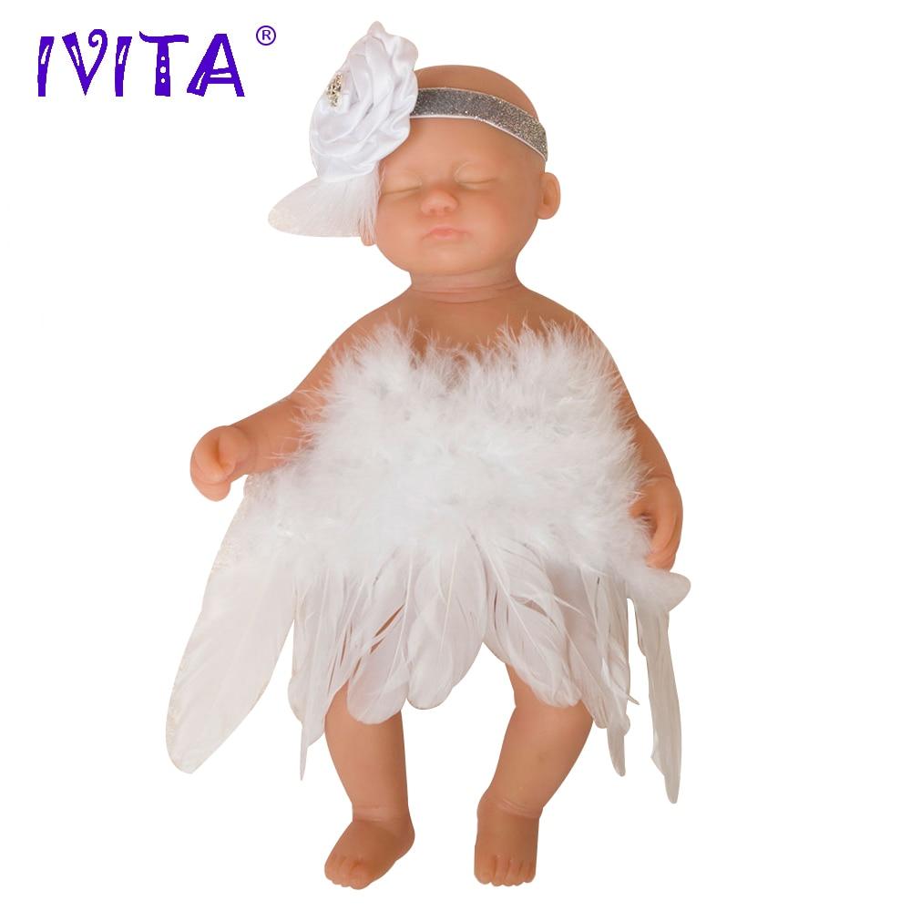 IVITA 15 pouces/1.8 kg Fille Yeux Fermé Haute Qualité Silicone Reborn Poupées Bébés Bébé Né Plein Corps En Vie poupée Avec Des Vêtements Jouets