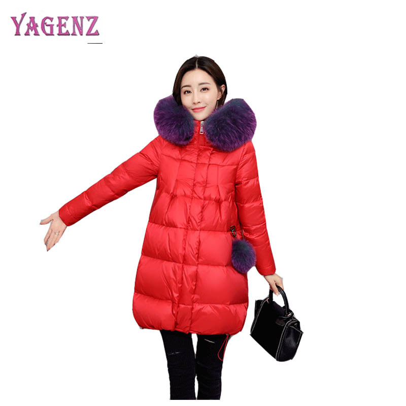 Winter Korean Version Of The Feather Cotton Jacket Cotton Jacket High Quality Thicken Warm Faux Fur Collar Women Cotton Jacket