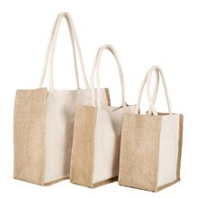 Hot Sale Women Handbag Lace Linen Tote Casual Reusable Shoulder Shopping Bag Satchel