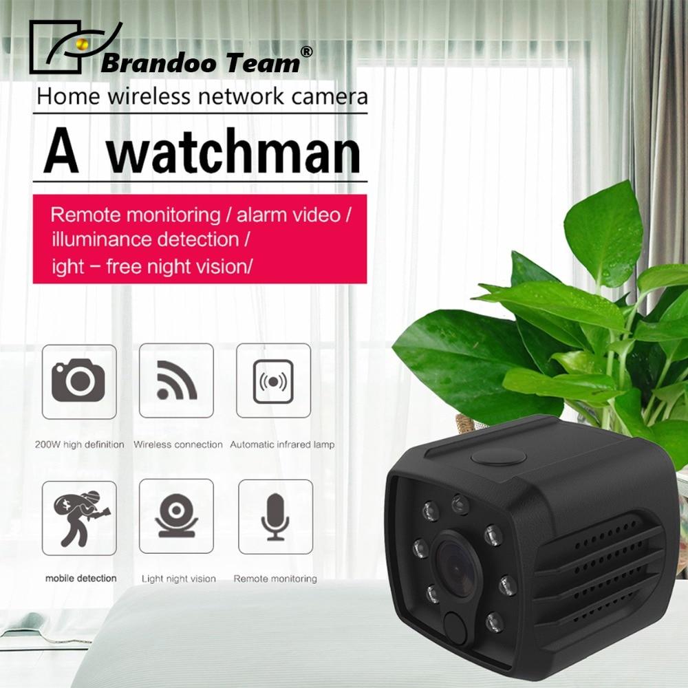 Brandoo H7 Wifi IP1080P HD DV caméra infrarouge caméra corporelle Mini caméra Version nocturne caméra d'action avec caméscope à capteur de mouvement