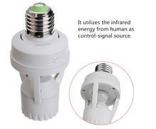 цена на 10-120 seconds adjustable Light Control Motion Switch 110V 220V E27 Base Lamp Holder IR Infrared Human Induction Motion Sensor