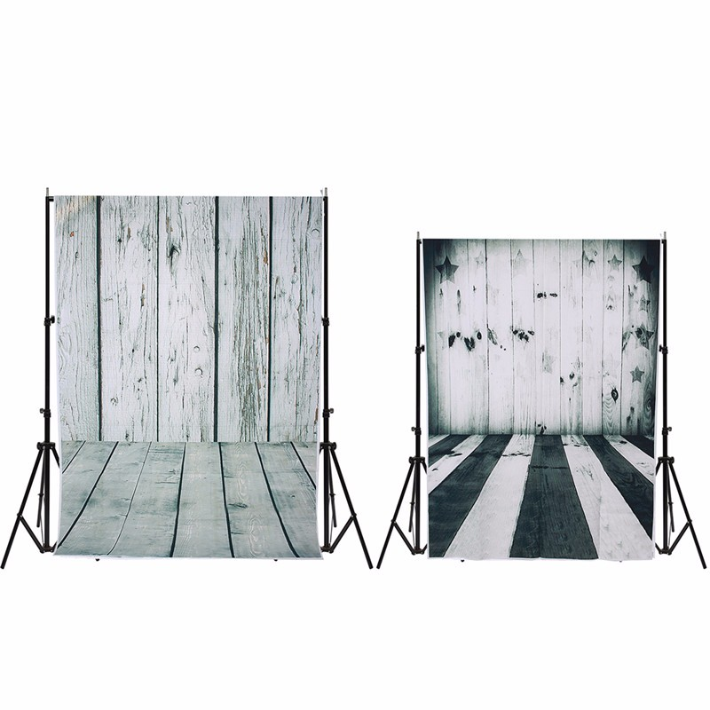 3x5FT/5x7FT Black and white vinyl Photography Background For Studio Photo Props Wood Wall Floor Photographic Backdrops cloth singular bulbs magic props white silver black