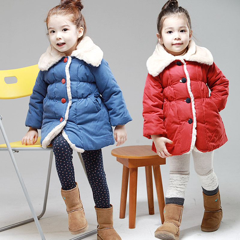 Free shipping- The new girl collars single-breasted coat winter jacket coat in winter jm collection new navy single breasted coat l $99 5 dbfl