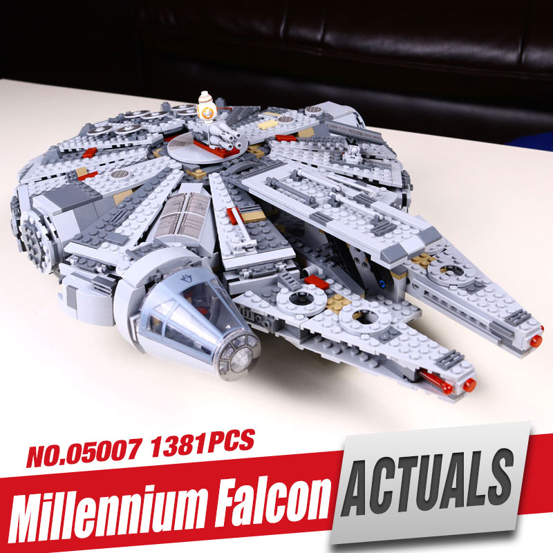 LEPIN 05007 Sale Price Star Wars Millennium Falcon Figure Toys building blocks compatible with gift 10467