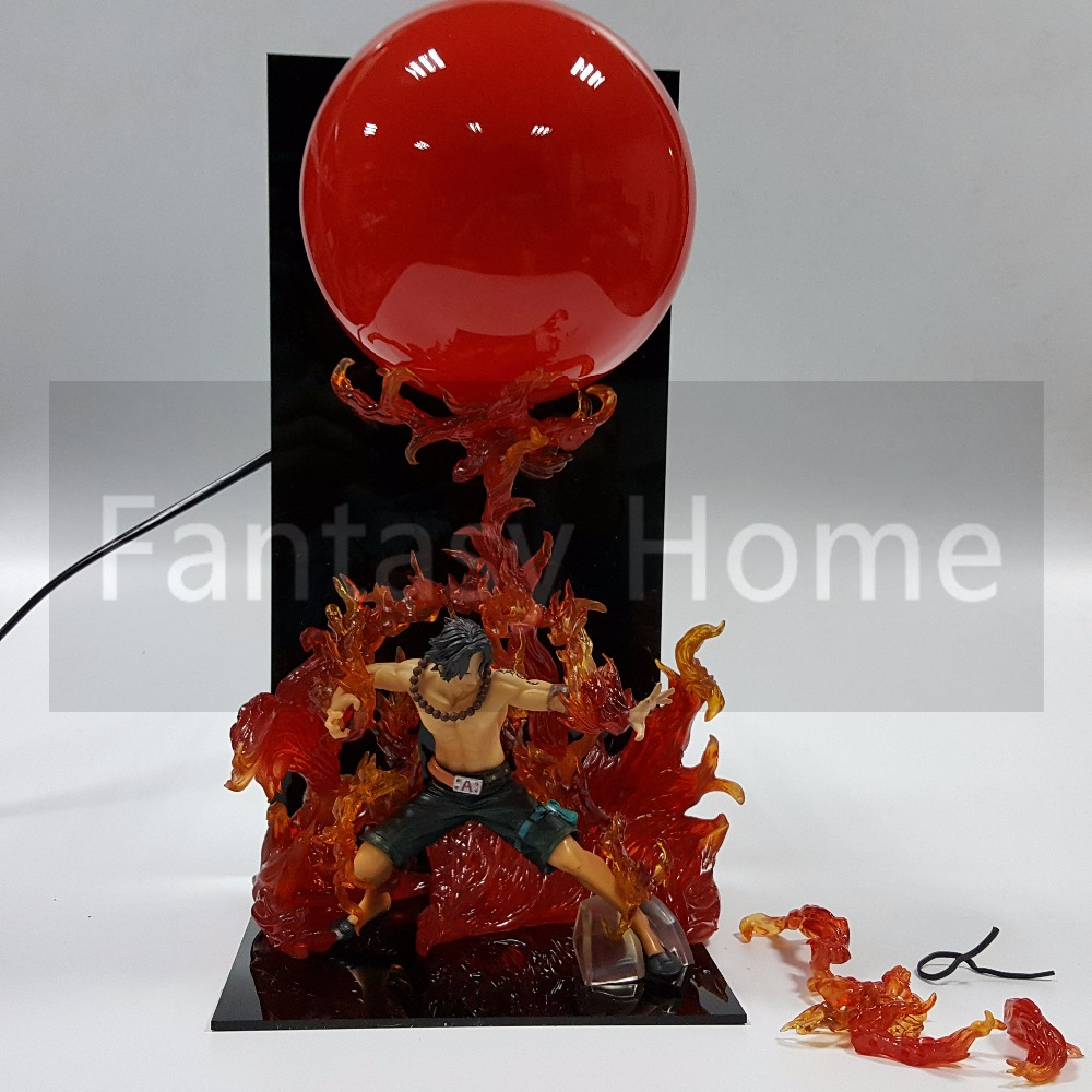 One Piece Action Figure ACE Dai EnKai Fire Ball DIY Display Toy PVC Figurine One Piece Portgas D Ace+Ball+Stand (Fire) DIY46
