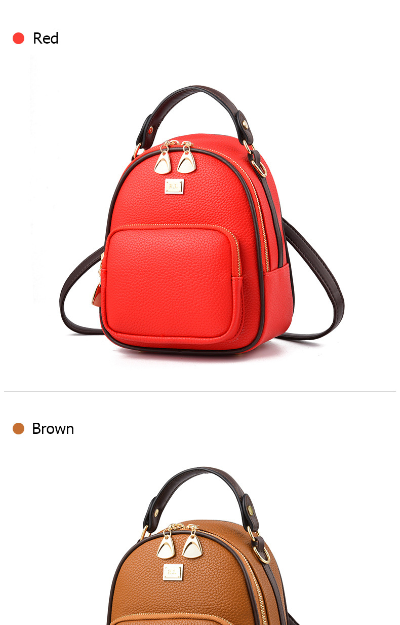 HTB1tITytpGWBuNjy0Fbq6z4sXXaP Brand New Leather Small Women Backpacks Zipper Shoulder Bag Female Phone Bags Lady Portable Backpack for Girls Casual Style