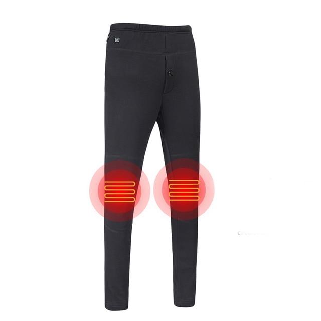 Top New Men Women Hiking Heating Warm Pants Camping Climbing Fishing Heated Pants Outdoor Wear-resisting Elastic Trousers 1