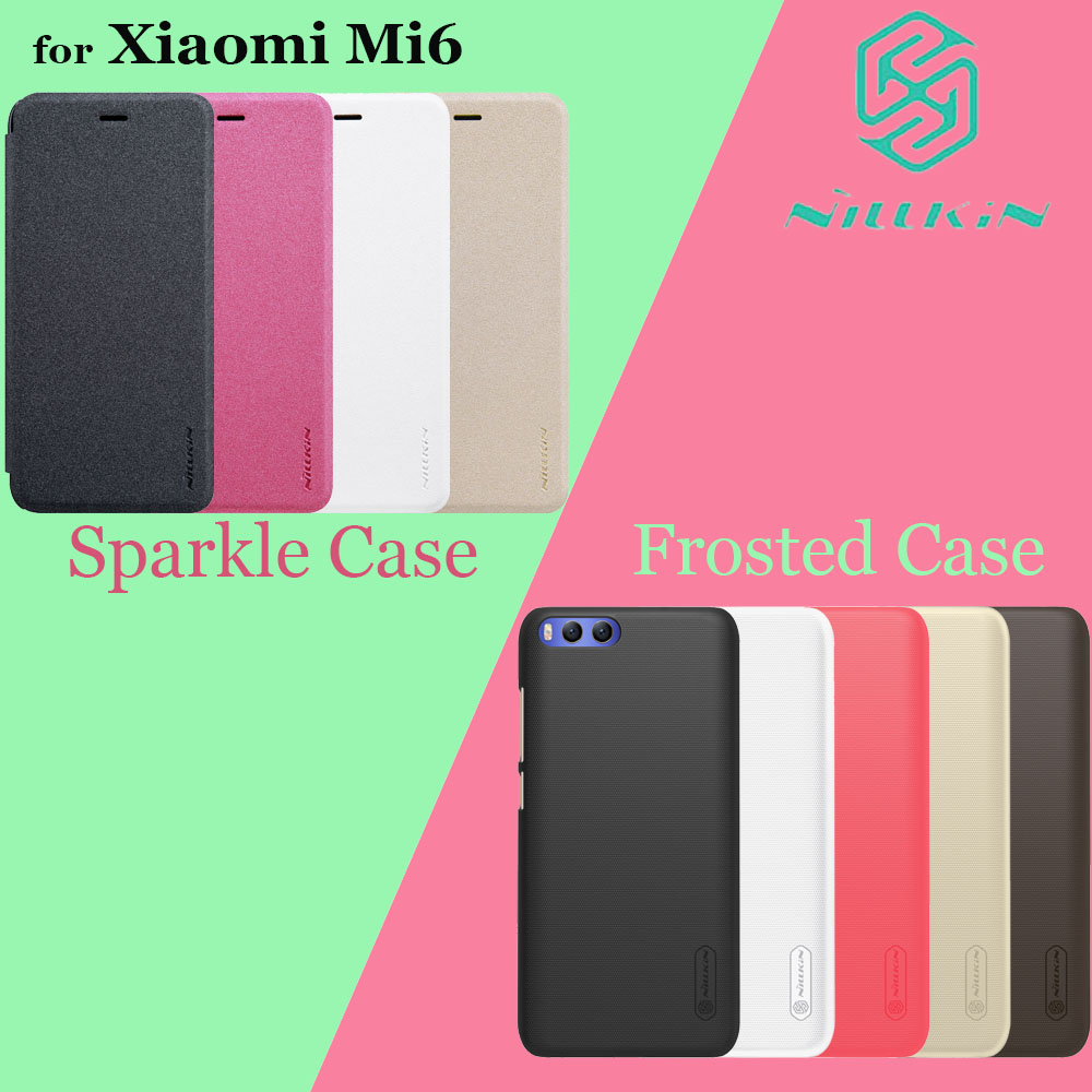 Xiaomi Mi6 Case 5 15 Nillkin Sparkle PU Leather Flip Case for Xiaomi M6 Nilkin Frosted