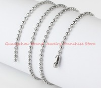 Wholesale Or Retail! 50 METER DIY Ball Bead Chain Silver Stainless Steel 5mm Silver/Gold Hanging Pendant Necklace,High Quality