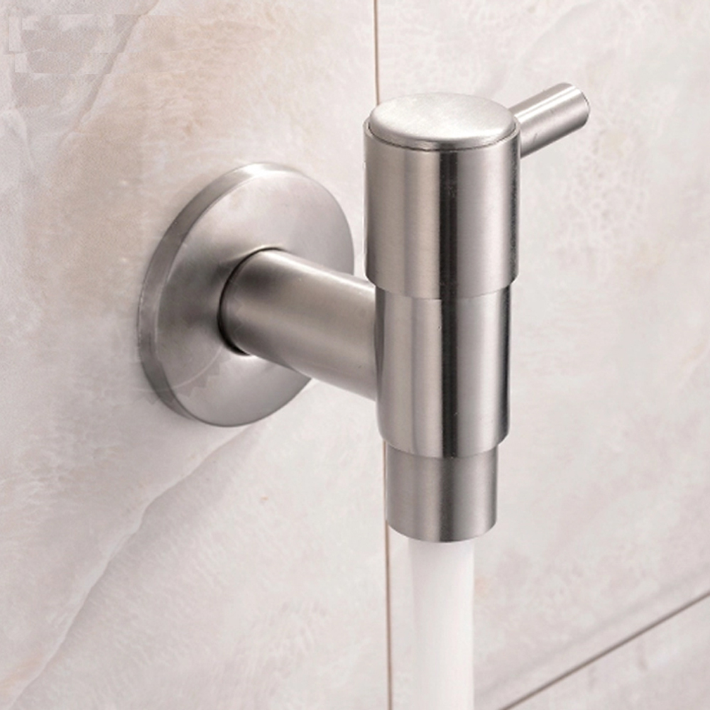 stainless steel bathroom faucets. 304 Stainless Steel Wall Mounted Bib Tap Mop Pool Taps Bathroom Faucets-in Bibcocks From Home Improvement On Aliexpress.com | Alibaba Group Faucets