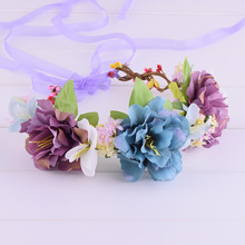 CXADDITIONS Gypsophila Paniculata Lilies Peony Flower Crown Floral Hairband Head Band Wreath Wedding Headpiece Bridesmaid