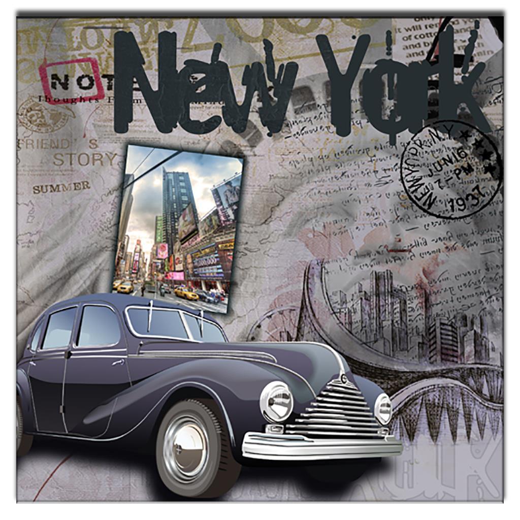 Affiche Salle De Bain Vintage ~ Vintage Affiche Th Me De New York Peinture Salle De Bains Peintures