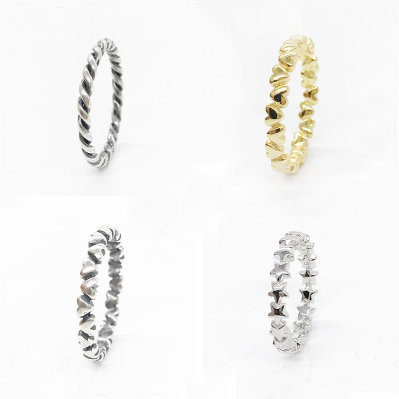 100% Authentic S925 Sterling Silver 5 Style Stackable Party s