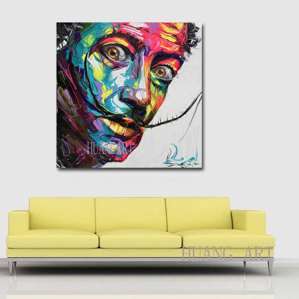 Fatti a mano Alec Monopoli arte della decorazione della parete Pittura A Olio su Tela di Canapa Urbano Salvador Dali self-portrait Decorazione clubhouse sala