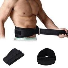 Black Weight Lifting Belt Gym font b Fitness b font Exercise Nylon Adjustable Waist Support Straps