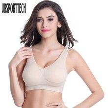 Купить с кэшбэком Fashion Women Wire Free Seamless Solid Bra Breathable Underwear Padded Push up Bra 3/4 Cup Fitness Bras Tops Free Shipping