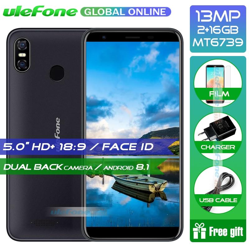Ulefone S9 Pro Android 8.1 Mobile Téléphone 5.5 pouce HD + MTK6739 Quad Core 2 gb RAM 16 gb ROM 13MP + 5MP Double Arrière Caméras 4g Smartphone