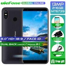 Ulefone S9 Pro Android 8.1 Cep Telefonu 5.5 inç HD + MTK6739 Quad Core 2 GB RAM 16 GB ROM 13MP + 5MP Çift Arka Kameralar 4G Smar...