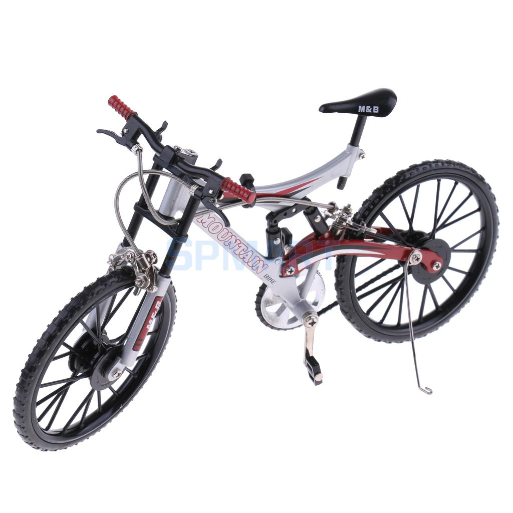 1:10 Scale Miniature Alloy Die Cast Bicycle Cycle Cycling Mountain Bike Model Toy for Children/ Adults' Hobby Collection Silver цена