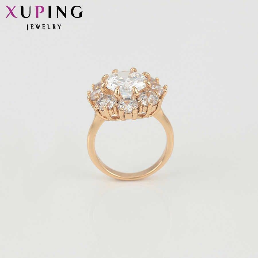 Xuping Mode Ring Top Verkauf Einzigartige Bunte Gold Farbe Überzogen Hochzeit Ringe Weihnachts Schmuck für Frauen 12646
