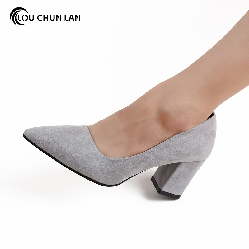 grey shoes for wedding. aliexpress.com : buy office \u0026 career shoes wedding women pointer toe medium heel concise pumps red/black/gray color free shipping from reliable grey for e