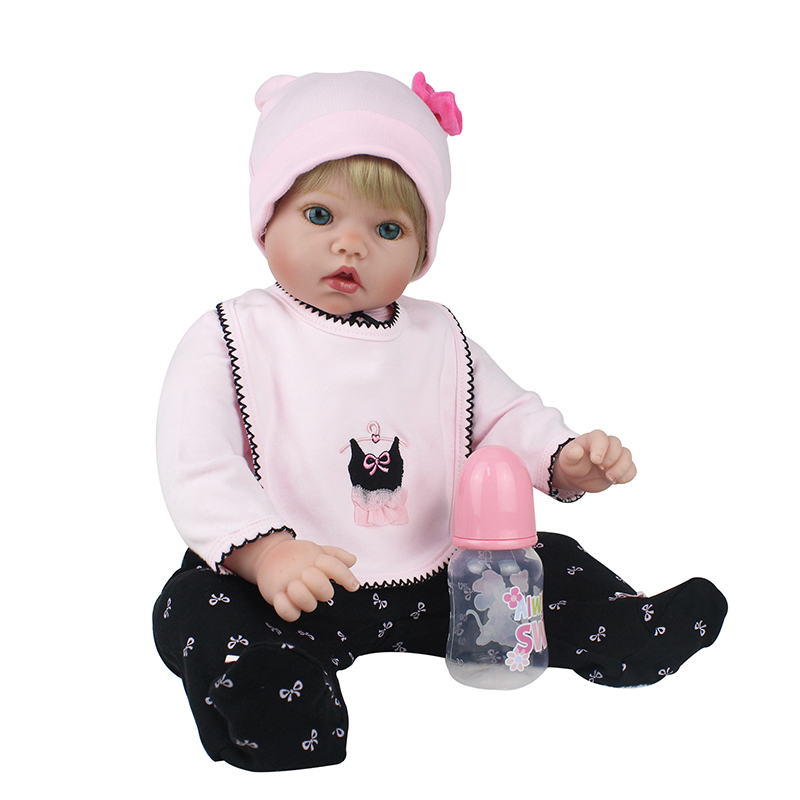 Latest new 50cm Silicone Reborn Baby Dolls Boneca Reborn Realista Fashion Dolls For Princess Children Birthday Gift Bebes RebornLatest new 50cm Silicone Reborn Baby Dolls Boneca Reborn Realista Fashion Dolls For Princess Children Birthday Gift Bebes Reborn