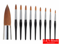 Factory Direct,Size 18,Six Angle Wooden Handle,100% Kolinsky Acrylic Nail,Free Shipping