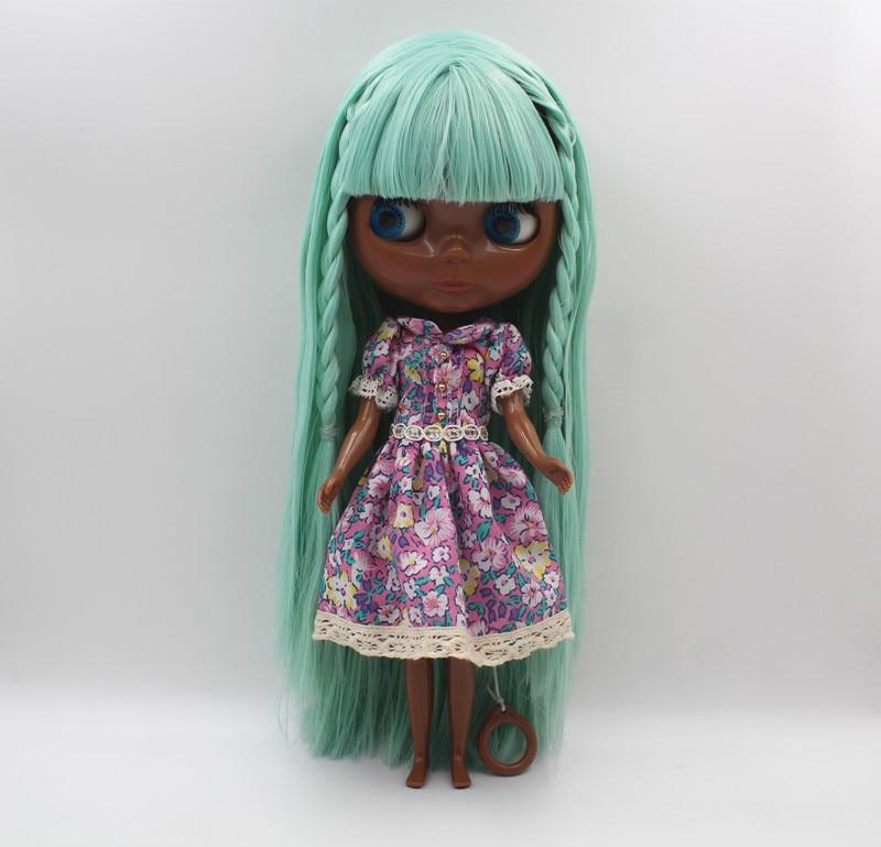 Free Shipping big discount RBL-439 DIY Nude Blyth doll birthday gift for girl 4colour big eye doll with beautiful Hair cute toy